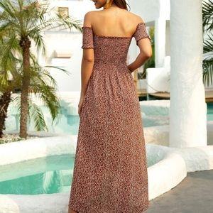 Women's  Boho off shoulder Bardot  Maxi dress